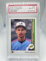 1989 Upper Deck Randy Johnson #25 PSA 8 Hall Of Fame HOF Montreal Expos 🔥🔥