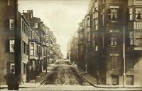 Boston MA Pinckney Street Buildings c1910 Real Photo Postcard