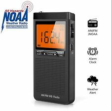 *NEW* NOAA AM FM Radio, Battery Operated Radio, Portable Pocket Transistor Radio
