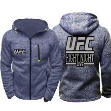 UFC Fighting Night Live Hoodie Warm Jacket Sport Sweatshirt Full-Zip Coat Spring