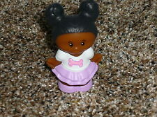 Fisher Price Little People Black African American Pet Girl Tessa Bone New