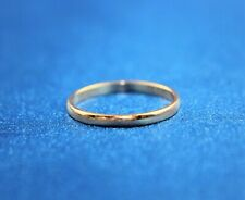 14K Rose Gold Wedding Band 2mm Size 6.75