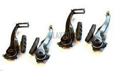 Bicycle V-Brake Set Front & Rear Brake Calipers With Fittings MTB Black