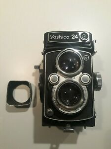 vintage Yashica 24 120 Film camera with 80mm 1:3.5 lens