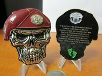 USAF Special Forces Pararescue Creed PJ s Maroon Beret Skull Challenge Coin