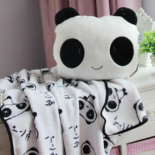 Multi-Purpose Air Conditioning Blanket Panda Throw Pillow Gift Toy for Children