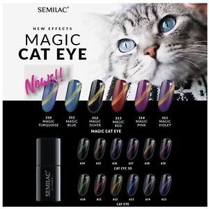 Semilac UV Hybrid Nail Gel Polish - New Effects Magic Cat Eye, Cat Eye 3D