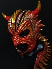 RED DRACO WRESTLING MASK LUCHADOR COSTUME WRESTLER LUCHA LIBRE MEXICAN MASKE