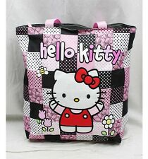 NWT Hello Kitty Large Diaper Tote Bag Black Pink by Sanrio Licensed Newest Style