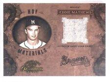 2003 Timeless Treasures Eddie Mathews Jersey HOF Materials #D023/100 #HOF29 *555