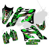 2006 2007 2008 KXF 250 GRAPHICS KIT KAWASAKI KX250F  250F MX  DECALS KXF250