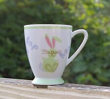 Starbucks Coffee Company 7oz Pastel Easter Cup Mug Rabbit Bunny Hop 2007