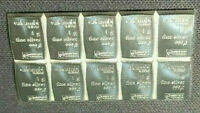 10 X 999 FINE SILVER 1 GRAM VALCAMBI SUISSE BARS!! THE BEST SILVER!!