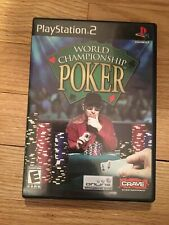 WORLD CHAMPIONSHIP POKER - PS2 - COMPLETE W/MANUAL - FREE S/H (I)