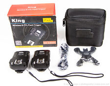 Pixel King Wireless Flash Trigger Transmitter & Receiver for Canon E-Ttl