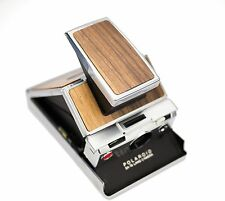 Polaroid SX-70 Silver Body - Walnut Wood Replacement Cover