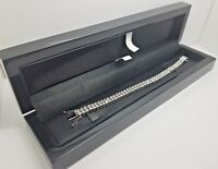 Tennis Bracelet white gold finish with Created Diamond double Row beautiful gift