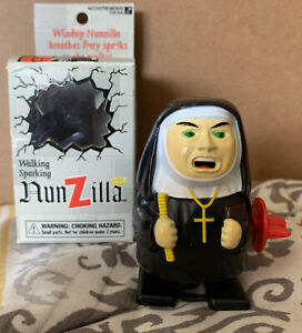 Nunzilla Walking Sparking Wind-Up Nun Toy NEW 1997 Accoutrements Vintage 90's