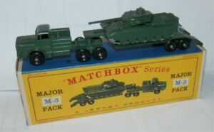 Matchbox Lesney  M-3  Tank Transporter  Repro D style Empty Box