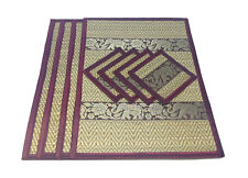 Place mats & Coasters for dining table Set 4 Pieces and Decorated with Elephant