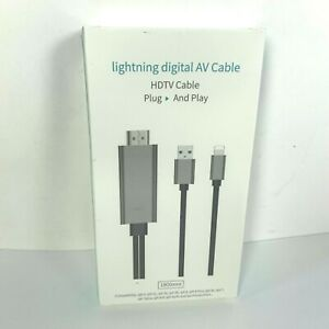 USB HDMI Mirroring Cable Phone To Digital TV HDTV AV Adapter For iPhone NEW
