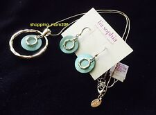 """Lia Sophia """"Out To Sea"""" Mother of Pearl Necklace & Earrings Set"""