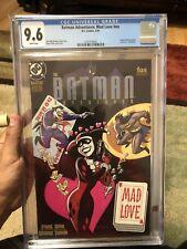 Batman Adventures Mad Love CGC 9.6 White Pages Joker Harley Quinn
