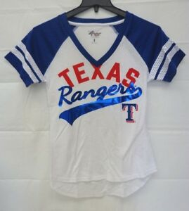 Texas Rangers Women's Small Double Play Short Sleeve Tee 083