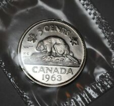 Canada 1963 5 cents Nice PL Five Cents Canadian Nickel