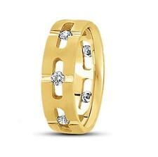 14k Gold, 0.70ct. Brilliant Round Diamond Fancy Design Men's Wedding Band, Ring