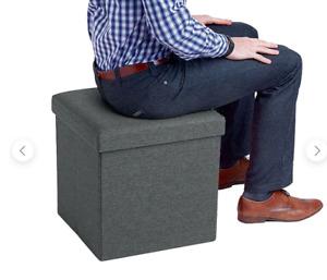 New Poppin Box Seat, Dark Gray (101559)