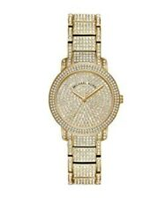 Michael Kors Women's Gold Stainless Steel Pave Glitz Watch MK6547 $350 + tx