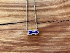 RARE!!! Jennifer Meyer 18k Diamond Lapis Lazuli Arrow Necklace Pendant