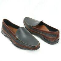 Allen Edmonds Boulder EXCELLENT Leather Black Brown Driving Loafers Mens 10.5 D