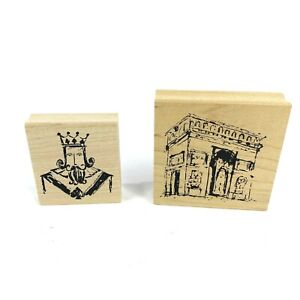 Art Impressions Rubber Stamps Lot 2, K-3341 and Q-2507