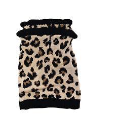Vibrant Life Leopard Print Dog Pet Ruffled Sweater Apparel Size S Pug Shih Tzu
