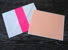 Kate Spade Pink Rugby Striped Blank Single Note Card Correspondence Card
