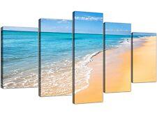 EXTRA LARGE TROPICAL BEACH-Seascape Canvas Multi 5 Set-larghezza 160cm