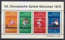 Germany 1972 MNH Mi Block 8 Sc B490 a-e 20th Olympic Games, Munich.Basketball **