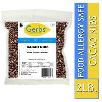 Cocoa Nibs, 2 LBS - Food Allergy Safe, Vegan & Non GMO by Gerbs