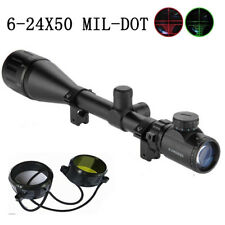 6-24x50 AOEG Tactical Rifle Scope Holographic Optical With Mil-dot Reticle Hunt