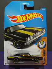 2017 Hot Wheels '69 DODGE CHARGER 500, HW MUSCLE MANIA BLACK MOON EYES car 6/10