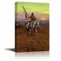 "Medicine Man by Charles Marion Russell - Canvas Print Wall Art - 24"" x 36"""