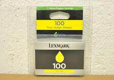 Cartouche Originale d'Origine LEXMARK 100 (NO 100XL) Encre Jaune Genuine Yellow