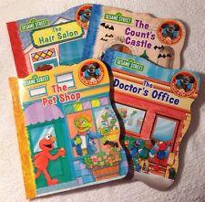 LOT (4) Sesame Street Books (New) Educational/Fun Learning