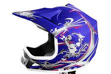 SEHR BELIEBT NEU Kinderhelm für Kinder Cross Crosshelm Motorradhelm Helm blau