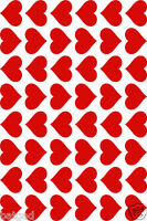 96 Vinyl Hearts Stickers, Wedding, Card making, Scrapbooking, sealing envelopes