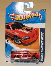 2011 Hot Wheels Main Street #170 Dodge Charger Drift Red New