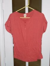 """MOSSIMO SUPPLY CO WOMAN'S PINK SHIRT """"M"""" COTTON BLEND """"WORN ONCE"""""""