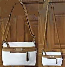 "NWT Rosetti White & Brown ""Tanya"" Mini Combo Crossbody & Purse, 7.25""T x 10""W"
